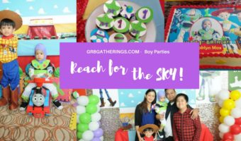 MAX & ROMAN'S CHRISTENING & TOY STORY PARTY – 1st Birthday